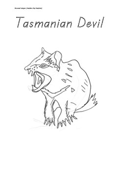 Introducing Tasmanian Animals Colouring Ins