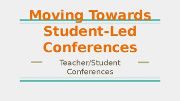 Introducing Teacher/Student Conferences