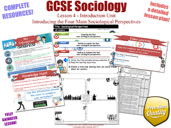 Introducing The Four Main Sociological Perspectives - Introduction Unit L4/12