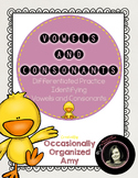 UPDATED!   Introducing Vowels and Consonants-Differentiate