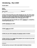 Introducing, Your Child Parent Questionnaire