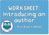 Introducing an Author worksheet