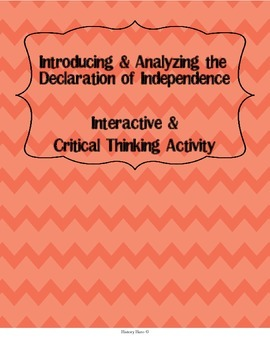 Introducing and Analyzing the Declaration of Independence