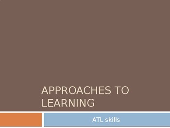 Introducing and Implementing ATL skills to teachers