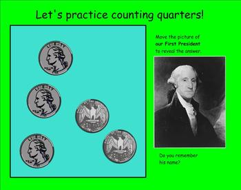 Introducing or Reviewing the Quarter Smartboard Lesson on Money