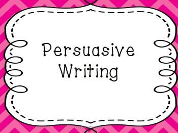 Introducing persuasive writing