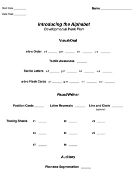 Introducing the Alphabet  - Guide 3 of 7 - TIERS Early Reading Intervention Prog