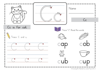 Introducing the Alphabet Worksheets