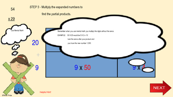 Introducing the Area model (box  method)  multiplication