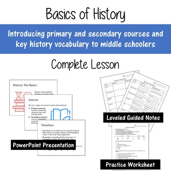Introducing the Basics of History: COMPLETE Lesson for Middle School