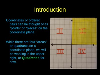 Introducing the Coordinate Plane