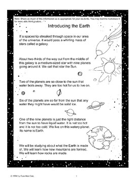 Introducing the Earth