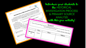 Introducing the Historical Investigation Method