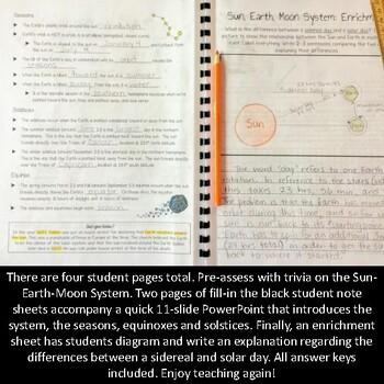 Sun, Earth, Moon System Introduction