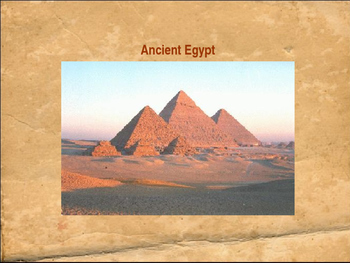Introducing Ancient Egypt PowerPoint