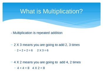 Introducting and Understanding Multiplication Power Point