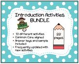 Introduction Activities BUNDLE