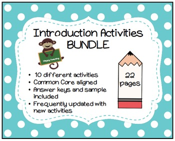 Introduction Activities BUNDLE
