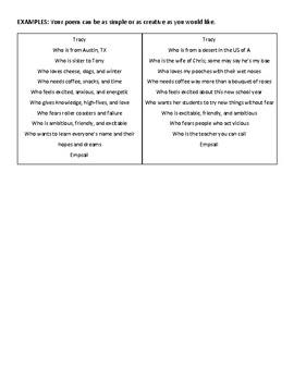 Introduction Bio Poem