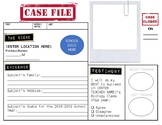 "Introduction ""Case File"" for New Students! (Editable)"