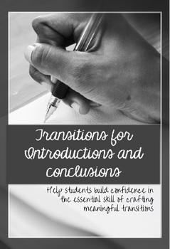 Introduction & Conclusion Transition Sentences