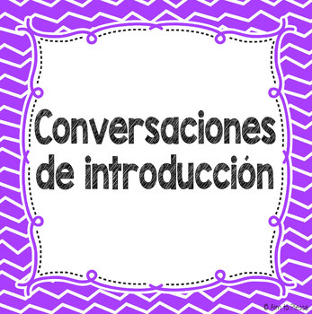 Introduction Conversations Freebie