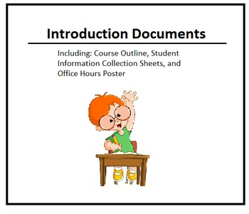 Course Intro Documents (Syllabi Template and Student Info Sheets) - Editable