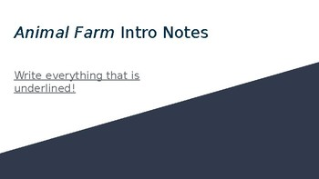 Introduction/Historical Notes for Animal Farm