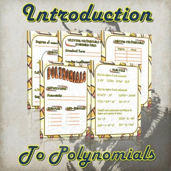 Introduction Into Polynomials - (Guided Notes and Practice)