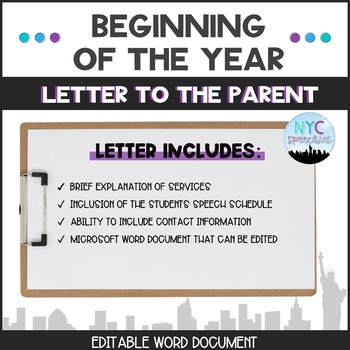 Introduction Letter to Parents