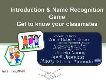 Introduction & Name Recognition Game ~ First Days of School