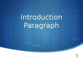 Introduction Paragraph Notes