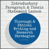 Introduction Paragraph & Thesis Statement Lesson