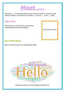 Introduction Poster for Early Childhood