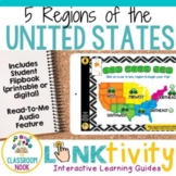 5 Regions of the United States LINKtivity® | Digital Guide | Distance Learning
