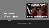 Introduction Powerpoint Math 6 Day 1