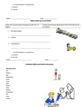 """Ser"" and Noun-Adjective Agreement: Introduction & Practice"