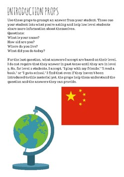 Introduction Props--Online ESL Classroom, VIPKID