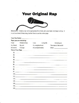 Introduction Rap and Blank Rap Template