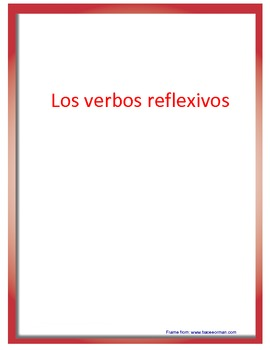Introduction Reflexive Verbs