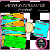 Introduction Sentences for 3rd-5th