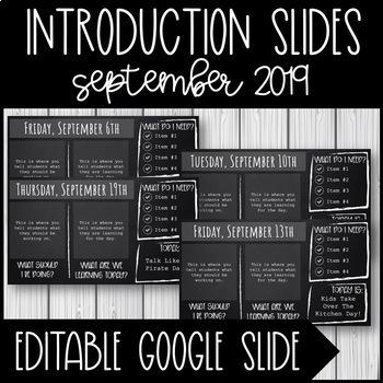 Introduction Slides - September 2019 - Free Resource