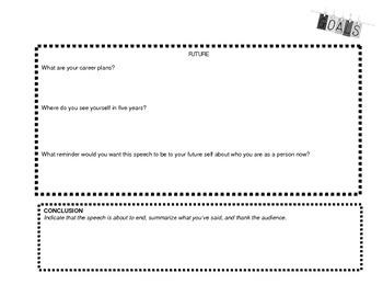Introduction Speech Assignment + Brainstorming Graphic Organizer