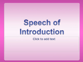 Introduction Speech Bundle: A Great First Step In Public Speaking