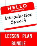 Introduction Speech Lesson Plan Bundle
