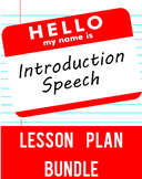 Introduction Speech Lesson Plan Bundle