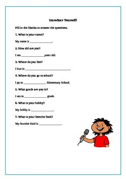 Introduction Speech - Writing Scaffolding Project