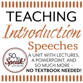 Introduction Speeches Unit