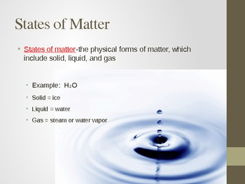 Introduction States of Matter PowerPoint Presenation