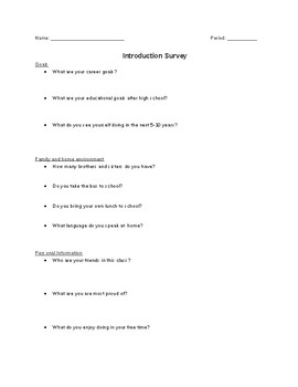 Introduction Survey